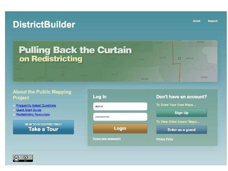 Now…Public Access RedistrictingOpen Data 2               Open Access 2011 CGA Conference at Harvard University          ...