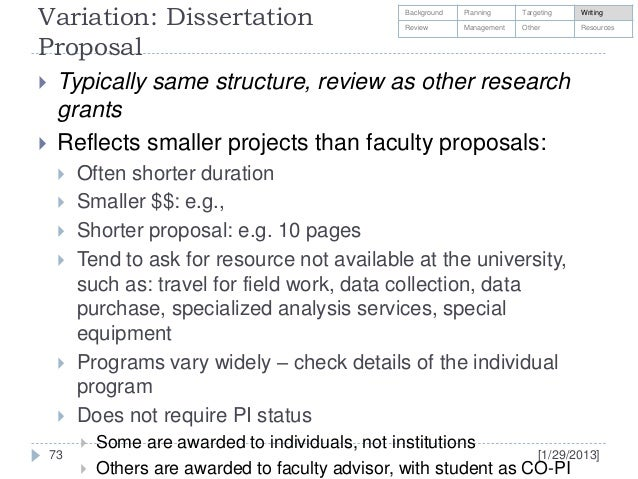 Dissertation writing grants social sciences