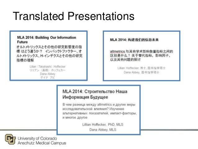 Translated Presentations