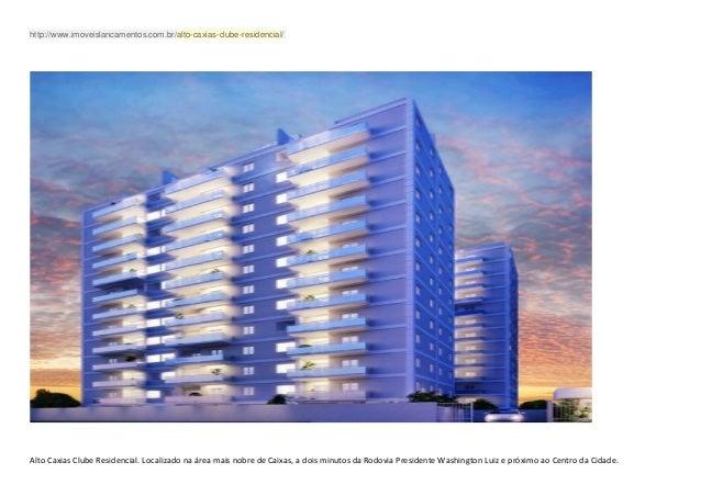 http://www.imoveislancamentos.com.br/alto-caxias-clube-residencial/  Alto Caxias Clube Residencial. Localizado na área ma...