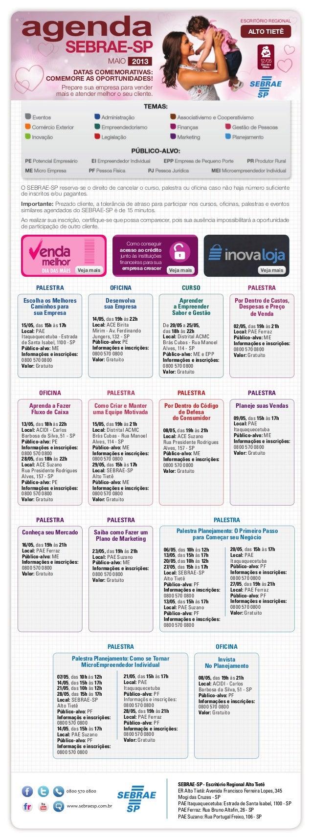 Escolha os MelhoresCaminhos parasua Empresa15/05, das 15h às 17hLocal: PAEItaquaquecetuba - Estradade Santa Isabel, 1100 -...