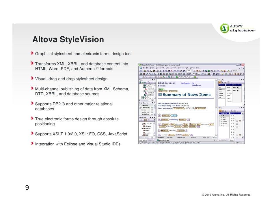 Altova Tools for DB2 pureXML