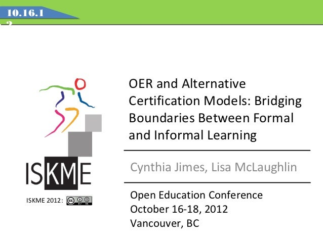 10.16.12                 OER and Alternative                 Certification Models: Bridging                 Boundaries Bet...