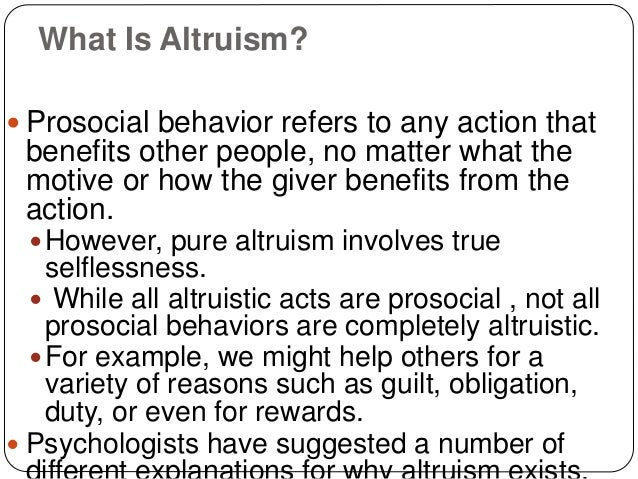 Types of Altruism in Psychology - Study.com