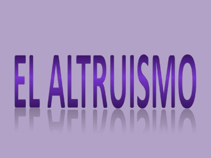 Elaltruismo<br />