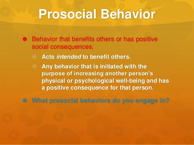 Distinguish between altruism and prosocial behaviour essay