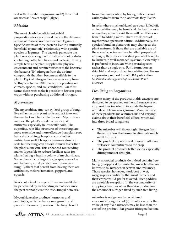 Alternative soil amendments for Soil amendments
