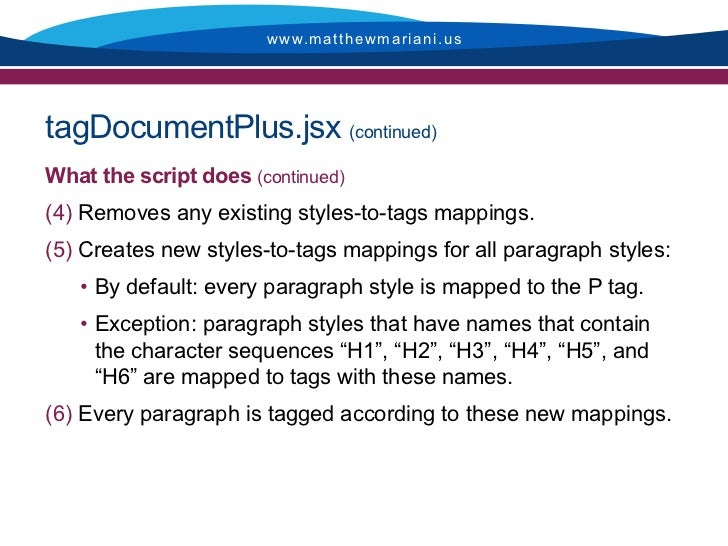Guide to InDesign scripts for enhancing 508 accessibility of