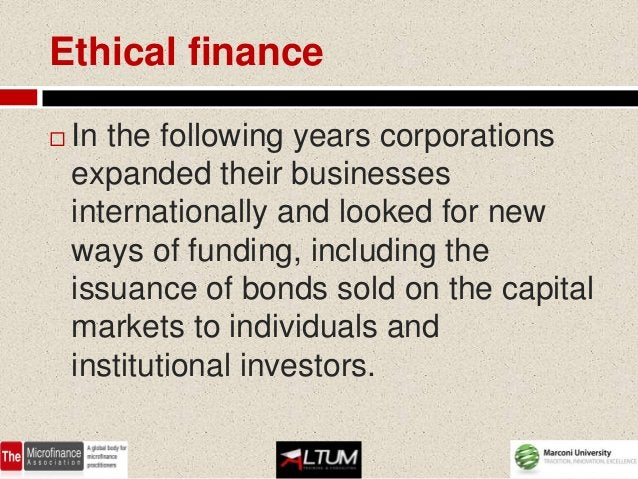 Ethical finance   With disintermediation banks have    transferred some of their traditional risks    - such as credit an...