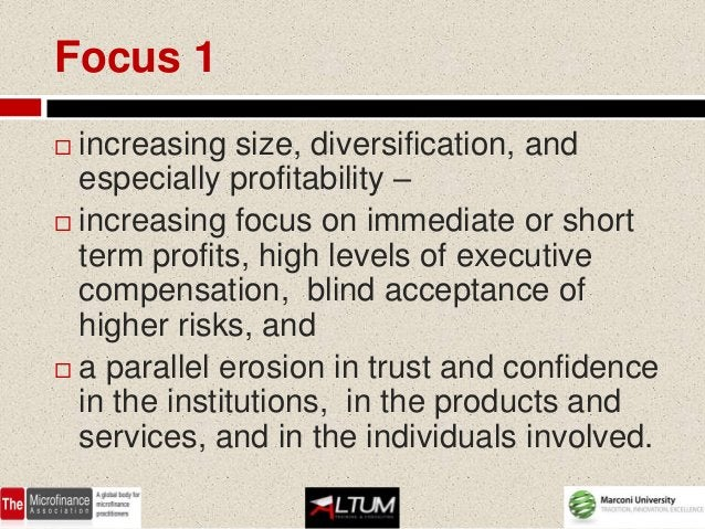 Focus 2 Strive to prove that finance is on its  way to re-discover its instrumental  function in support of the economy ...