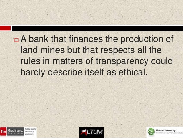 New Concepts of Microfinance