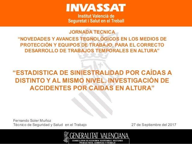 """CONSELLERIA DE ECONOMIA SOSTENIBLE, SECTORES PRODUCTIVOS, COMERCIO Y TRABAJO JORNADA TECNICA """"NOVEDADES Y AVANCES TEGNOLÓG..."""