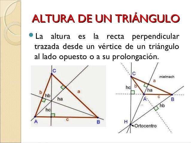 Resultado de imagen de alturas de triangulos