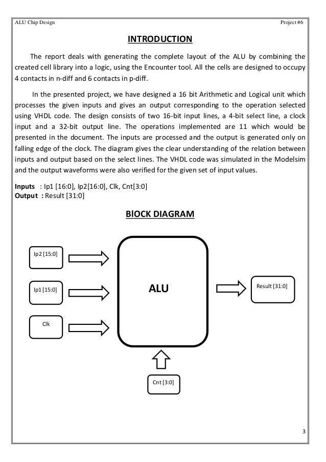32 bit alu chip design using ibm 130nm process technology