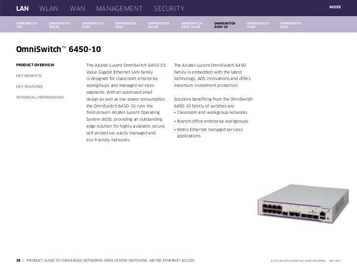 Alcatel-Lucent Enterprise Product Guide