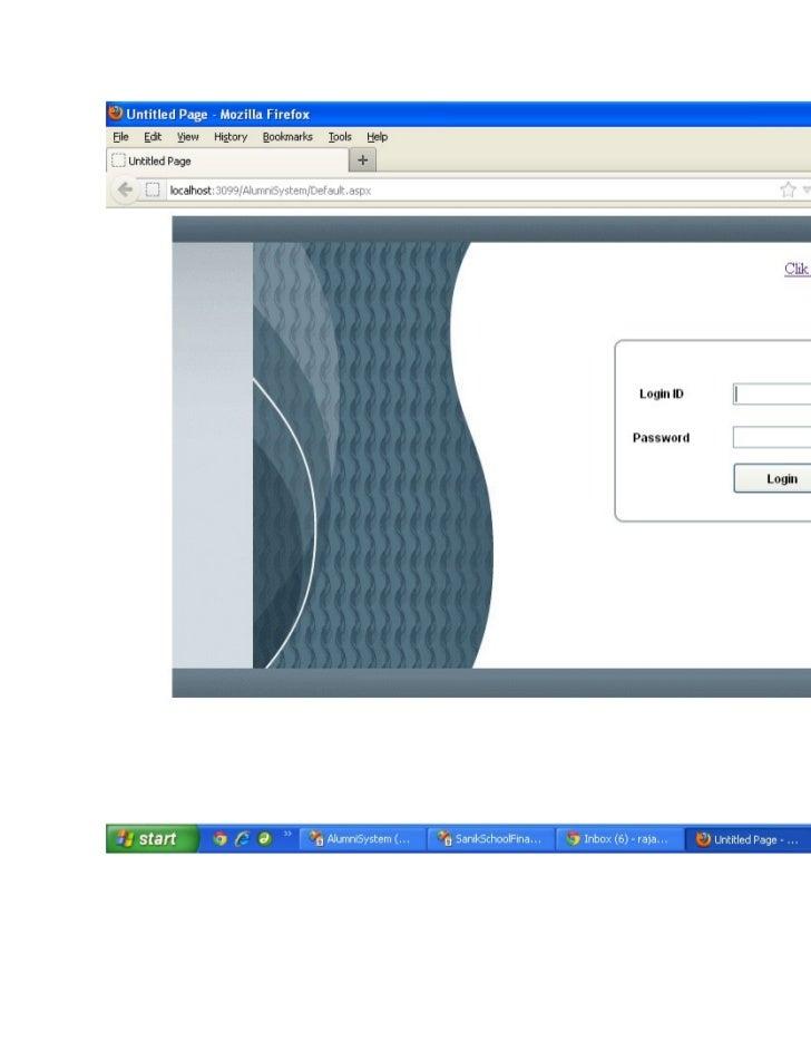 Alumani System Screen Shot