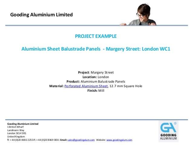 Gooding Aluminium Limited                                                        PROJECT EXAMPLE           Aluminium Sheet...