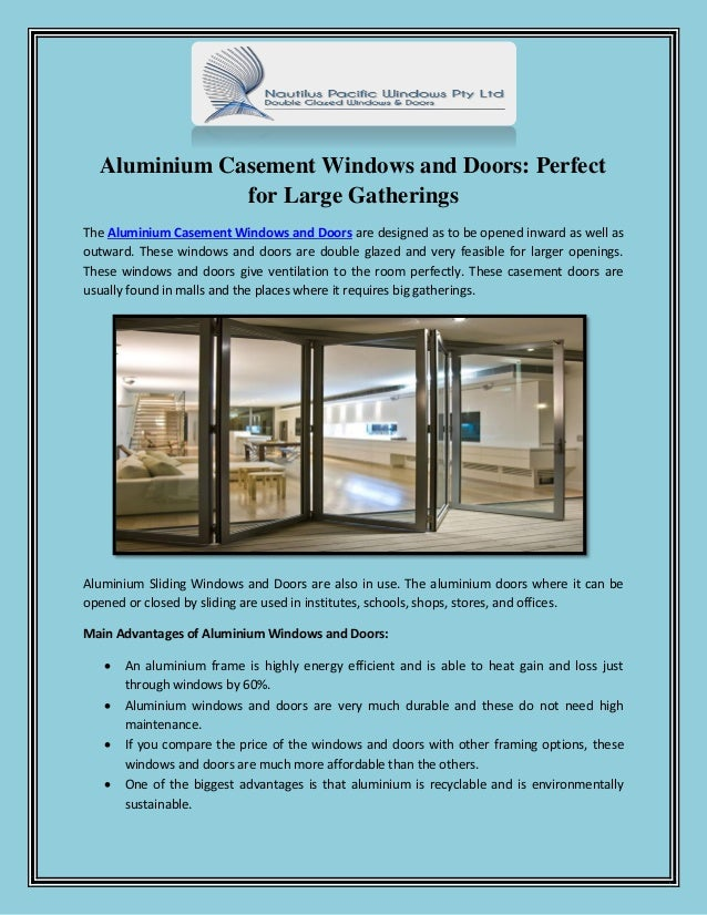 Aluminium Casement Windows And Doors Perfect For Large Gatherings