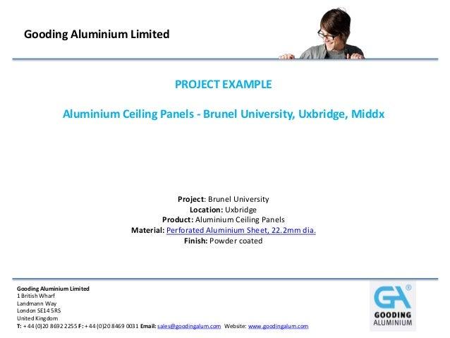 Gooding Aluminium Limited                                                        PROJECT EXAMPLE                Aluminium ...