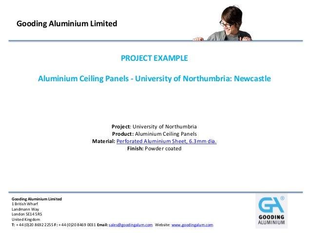 Gooding Aluminium Limited                                                        PROJECT EXAMPLE             Aluminium Cei...