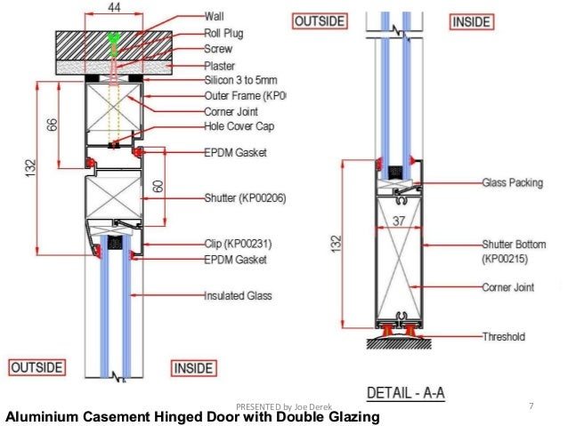 Aluminium Casement Hinged Door ...