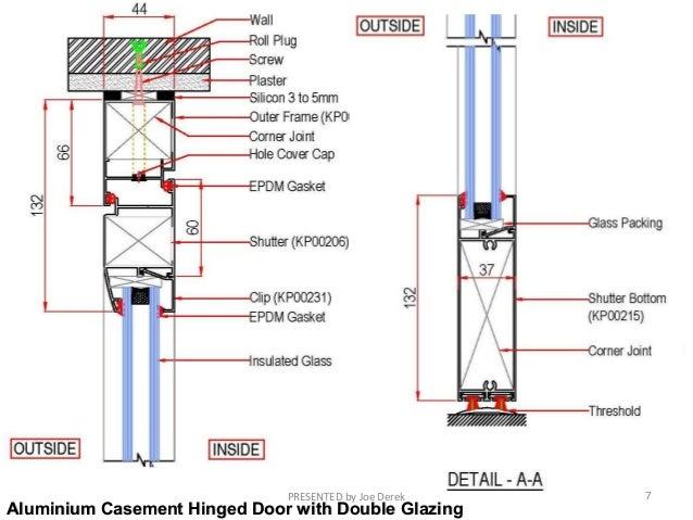 Aluminium Casement Hinged Door. Aluminium doors and Windows