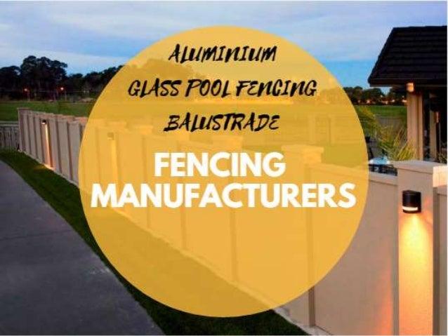 Aluminium Glass Pool Fencing Balustrade