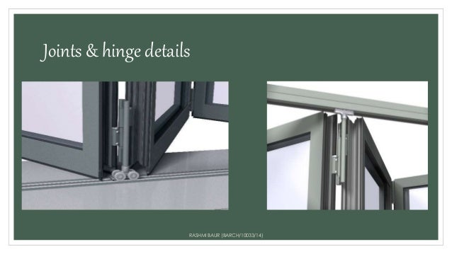Joints \u0026 hinge details RASHMI BAUR (BARCH/10033/14) ... & Aluminium sliding folding doors