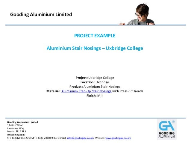Gooding Aluminium Limited                                                        PROJECT EXAMPLE                          ...