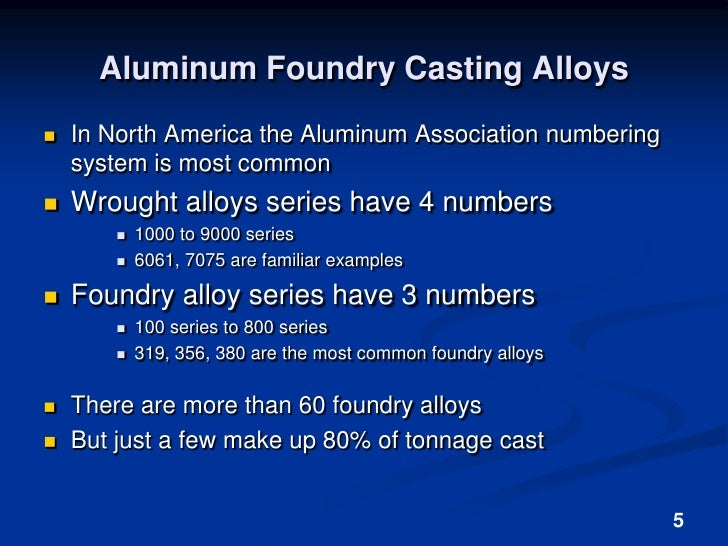 Aluminum Alloys For Hobby Foundry
