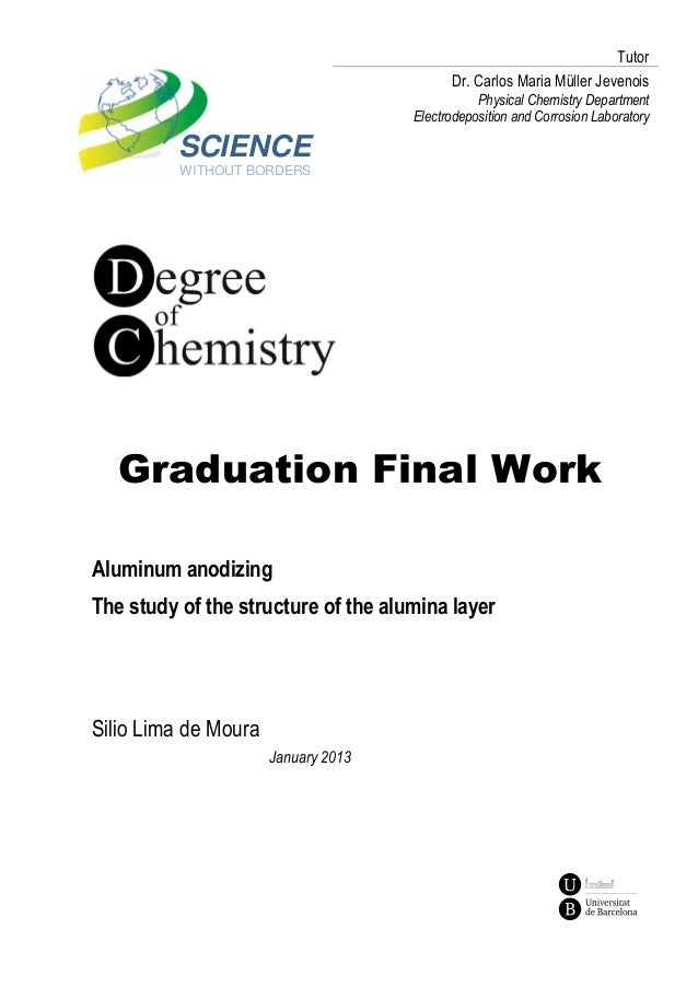 SCIENCE WITHOUT BORDERS Graduation Final Work Tutor Dr. Carlos Maria Müller Jevenois Physical Chemistry Department Electro...
