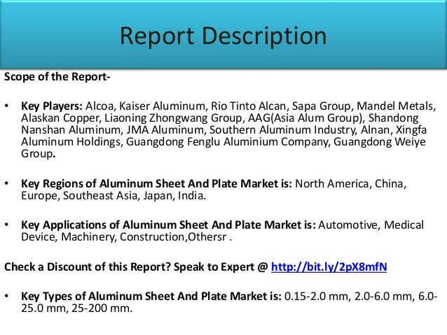 Aluminum sheet and plate market: Future Demand, Market Analysis & Out…