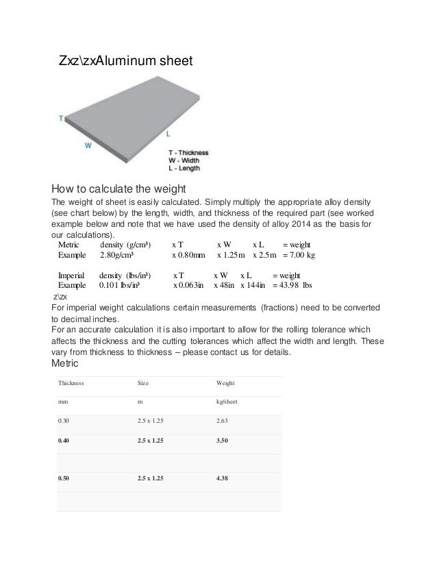 zxzzxaluminum sheet how to calculate the weight the weight of sheet is easily calculated
