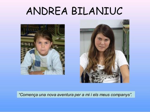 """ANDREA CIUBAN""""M'acomiado de Primària i també d'Espanya.Sempre us recordaré."""""""