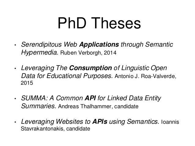 phd thesis in semantic web