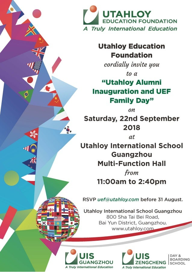 Alumni And Uef Event Invitation Card Sep 2018