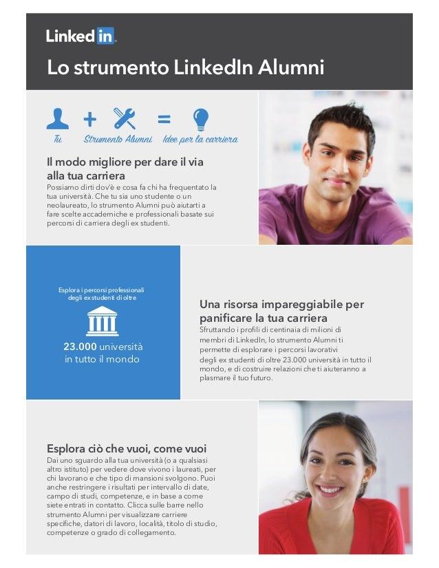 Tu Strumento Alumni Idee per la carriera 23.000 università in tutto il mondo Esplora i percorsi professionali degli ex stu...