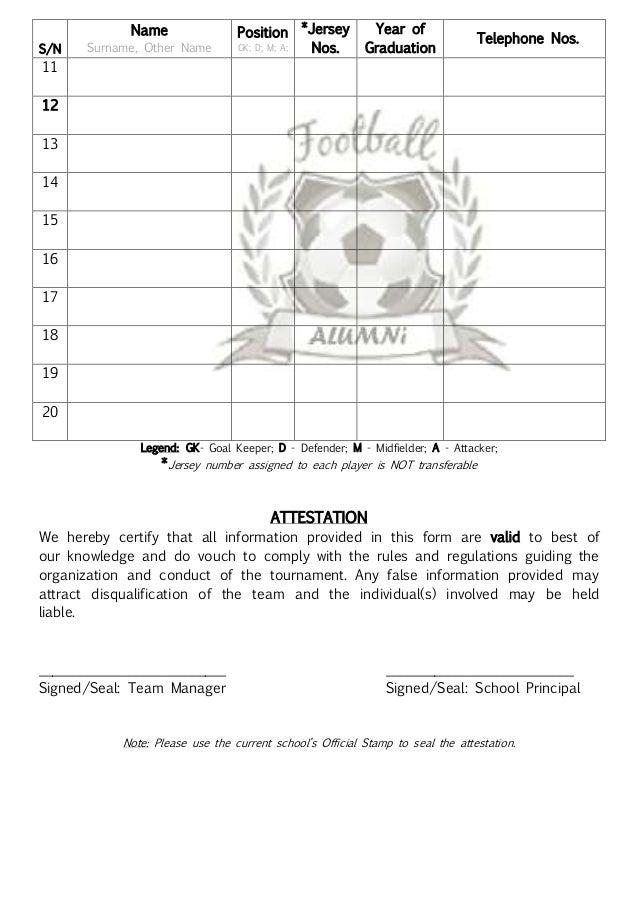 Alumni football competition afc 2014 registration package spons 4 altavistaventures Image collections