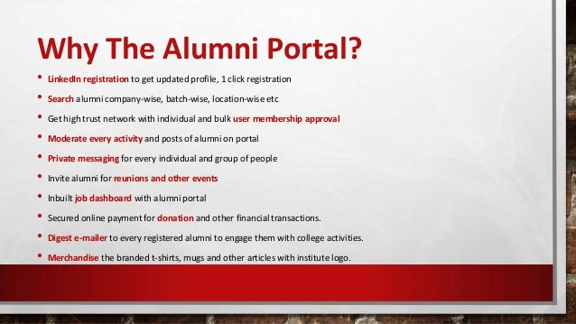alumni portal Welcome bishop o'dowd alumni you've found the section of our site just for you please bookmark this page [.