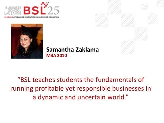 Business School Lausanne Alumni Quotes