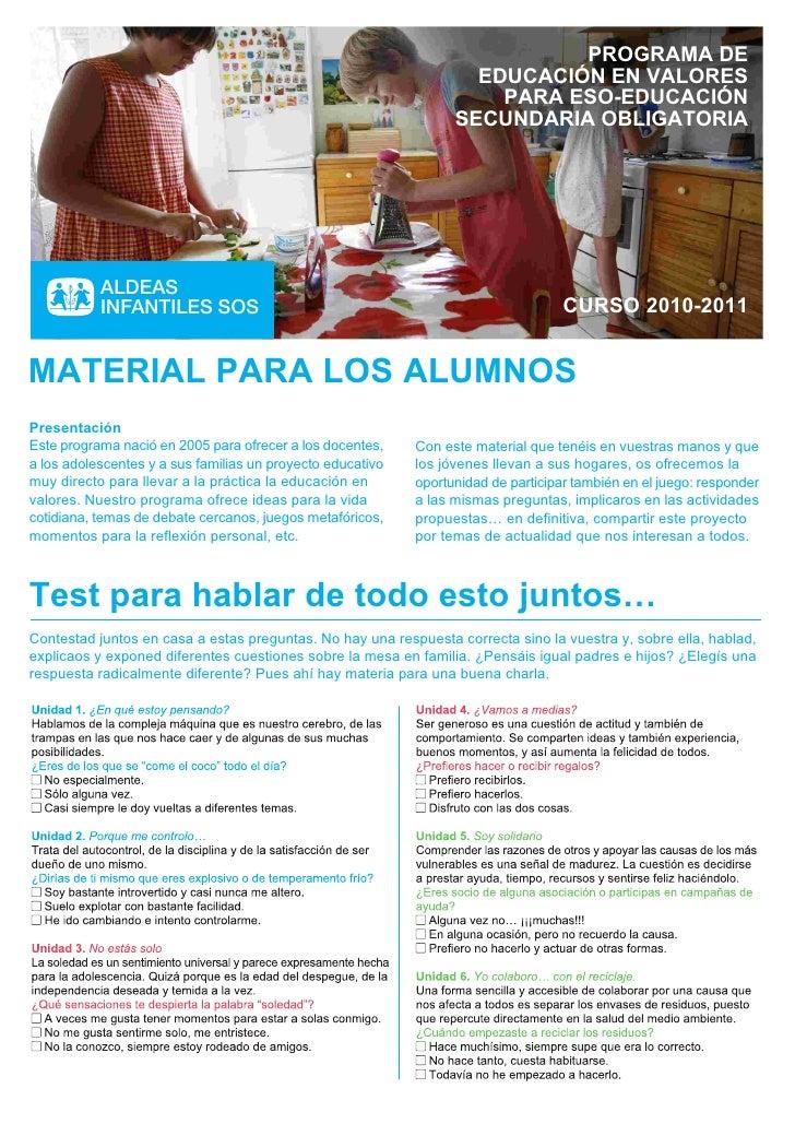 PROGRAMA DE                                                                    EDUCACIÓN EN VALORES                       ...