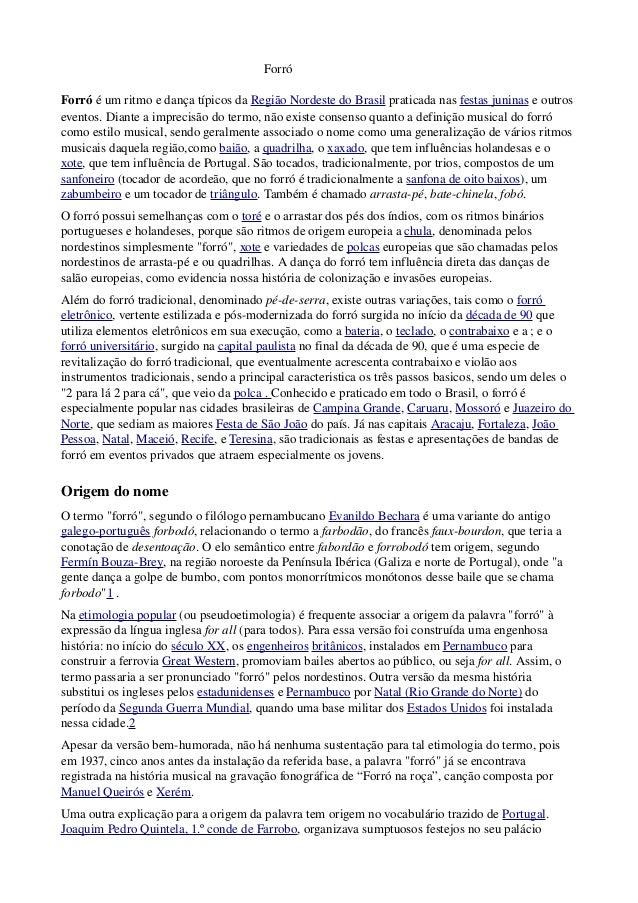 Forró ForróéumritmoedançatípicosdaRegiãoNordested...