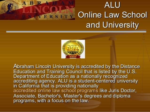 Law School Online >> Alu Online Law School And University California