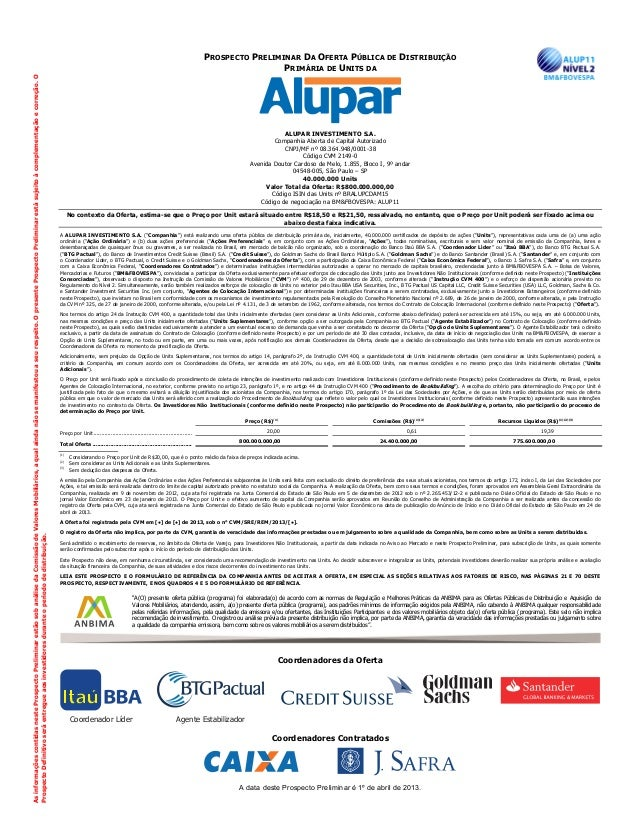 Alupar prospecto preliminar 01 04 2013