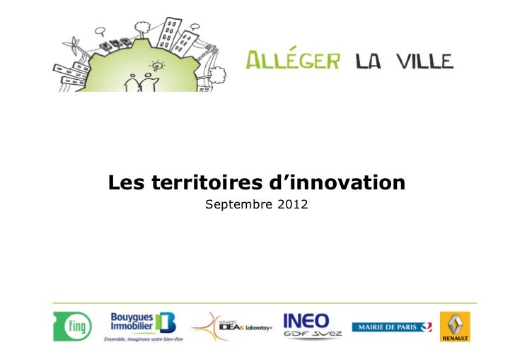 Les territoires d'innovation         Septembre 2012