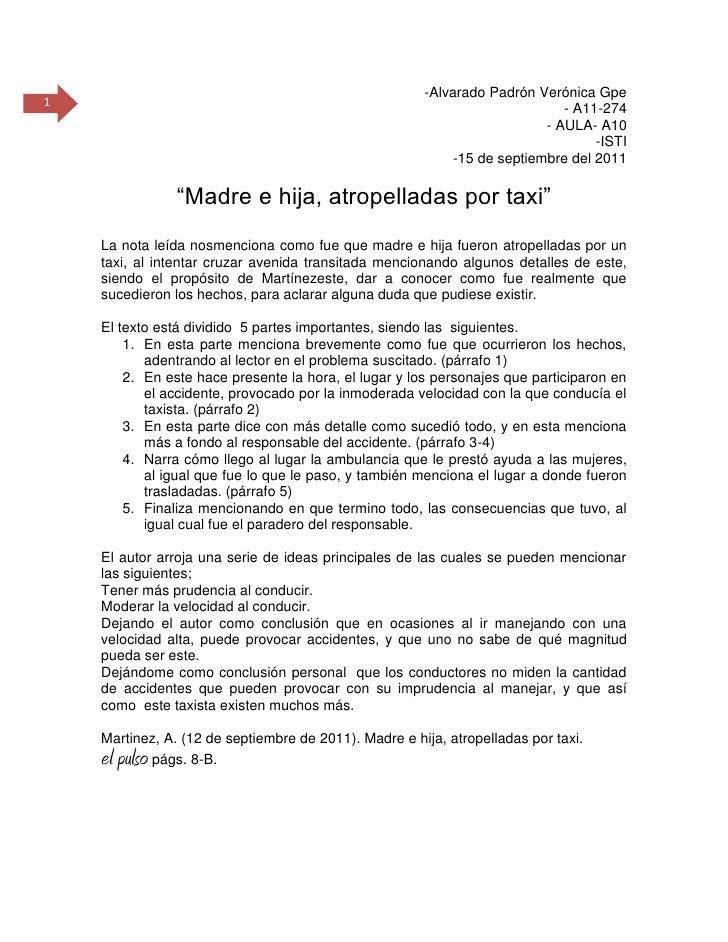 """-Alvarado Padrón Verónica Gpe<br />- A11-274<br />- AULA- A10<br />-ISTI<br />-15 de septiembre del 2011<br /> """"Madre e hi..."""