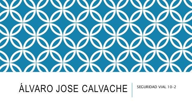 ÁLVARO JOSE CALVACHE SEGURIDAD VIAL 10-2