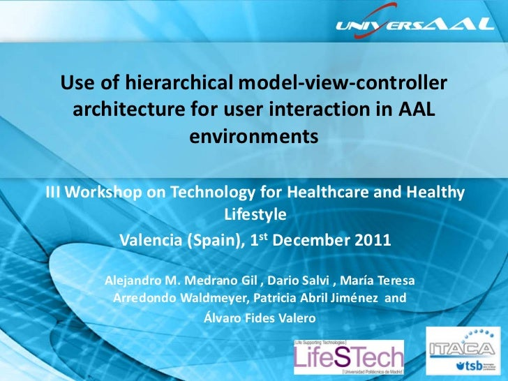 Use of hierarchical model-view-controller  architecture for user interaction in AAL               environmentsIII Workshop...
