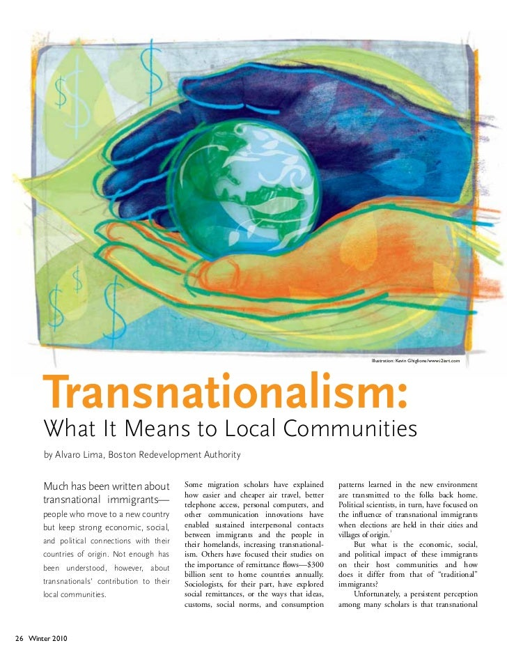Illustration: Kevin Ghiglione/www.i2iart.com       Transnationalism:       What It Means to Local Communities       by Alv...