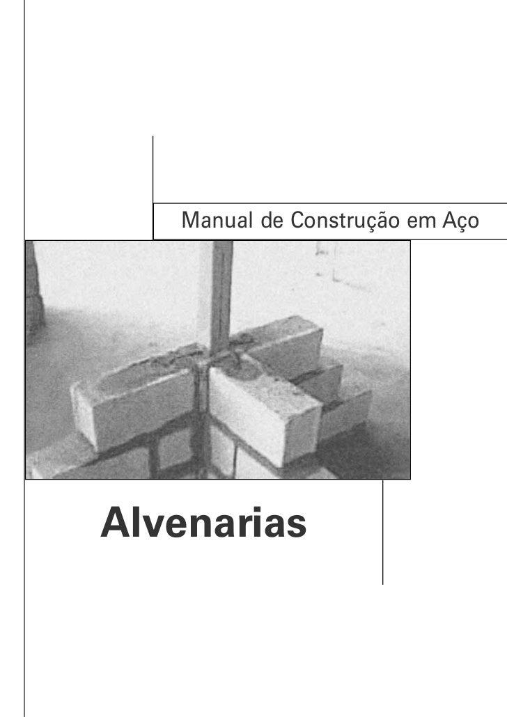 Manual de Construção em AçoAlvenarias